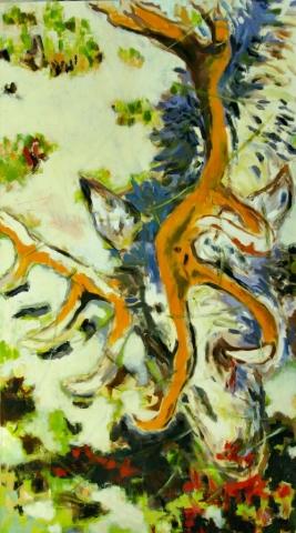 """KB_""""Weidwund"""" 100 x 180,  Acryl  auf Baumw."""