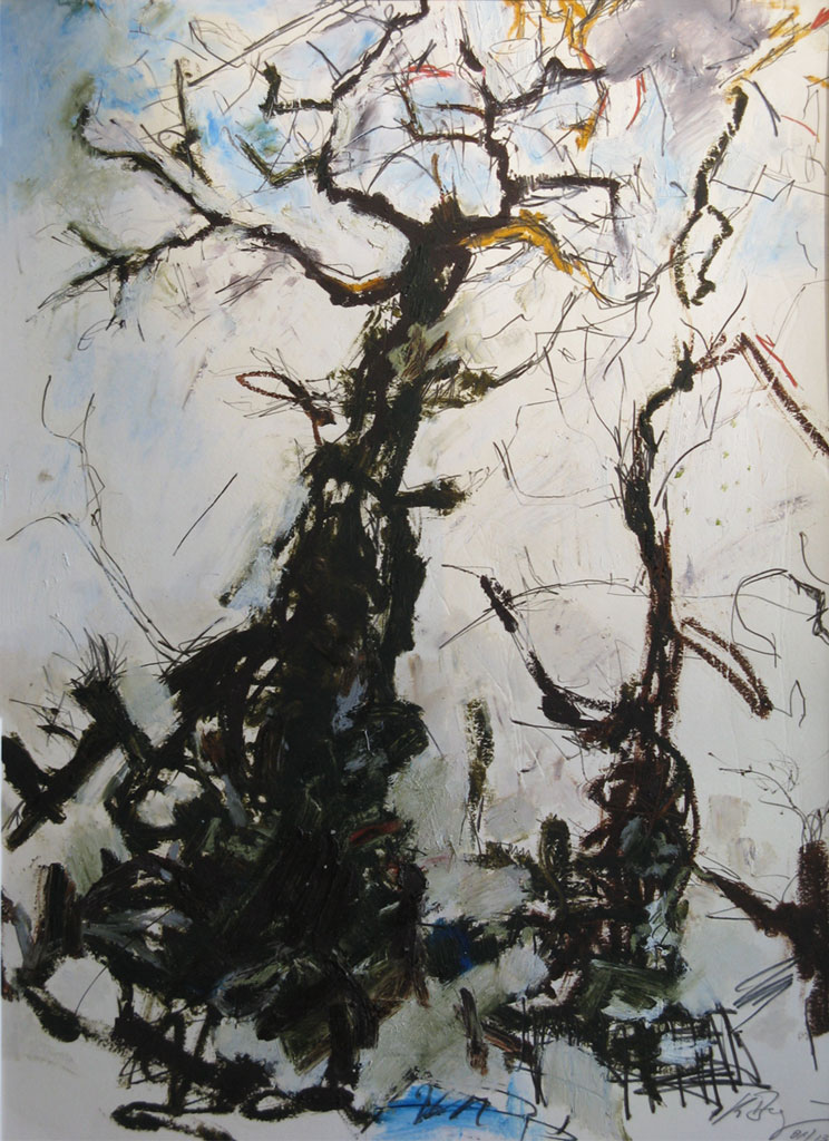 """Klaus Berghaus """"Bäume I"""" 50 x 60,  Mischtechnik"""
