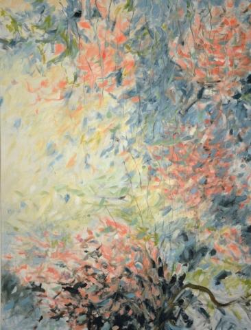 """Klaus Berghaus """"Hortensien""""  90 x 150,  Acryl  auf Baumw."""