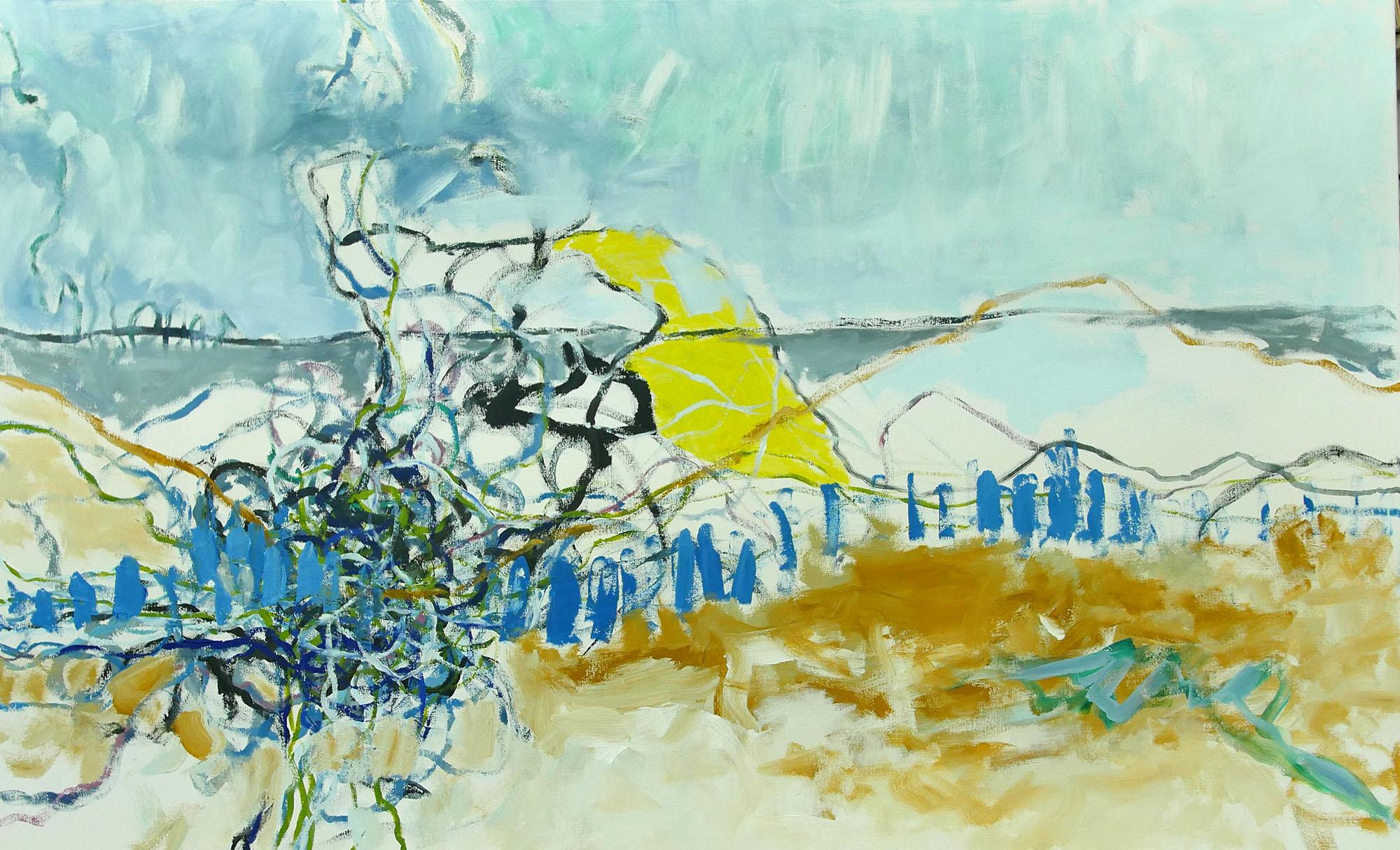 """Klaus Berghaus """"Grönland schmilzt"""" 90 x 110,  Acryl auf Baumw."""