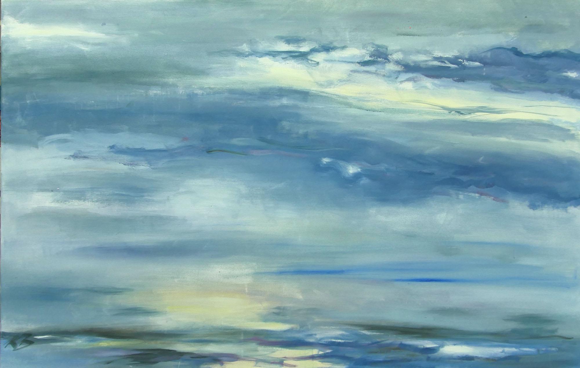 """Klaus Berghaus """"Sonne und Meer"""" 80 x 130,  Acryl  auf Baumw."""